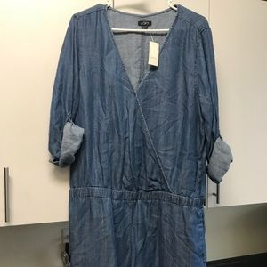 Loft denim romper